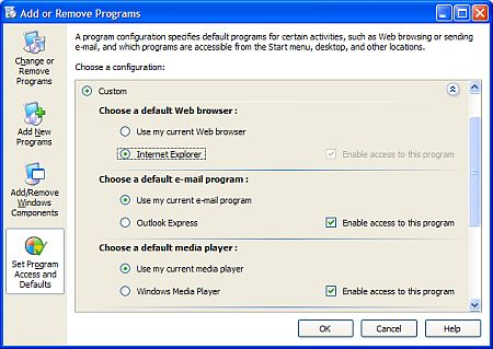 Windows default web browser