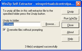 Self-extracting executable