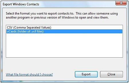 Export Windows Live Mail Contacts