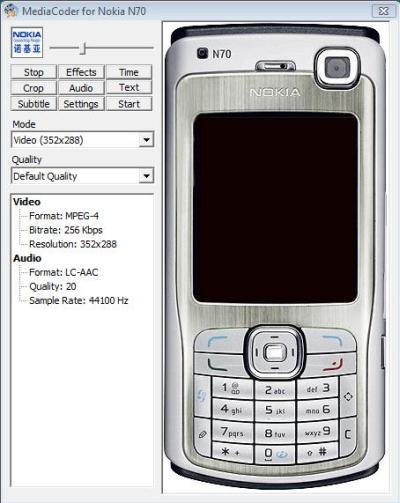 MediaCoder Nokia N70
