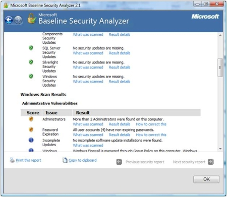 Baseline Security Report