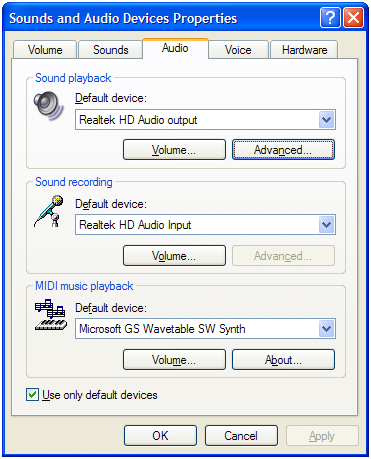 Sounds and audio devices