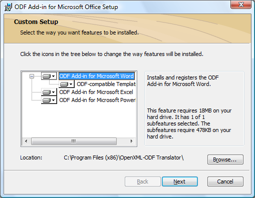 ODF Add-in for Microsoft Office