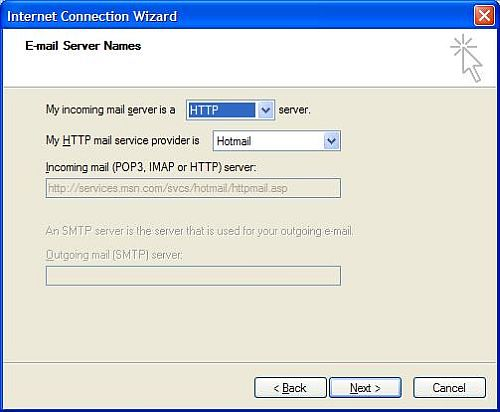 Hotmail settings in Outlook Express