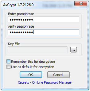 Enter passphrase for encryption