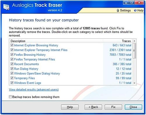 Remove history tracks from computer