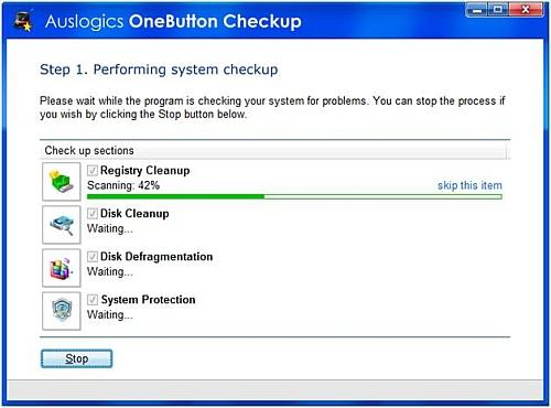 System checkup execution
