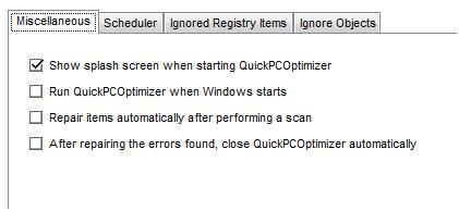 Program configuration options