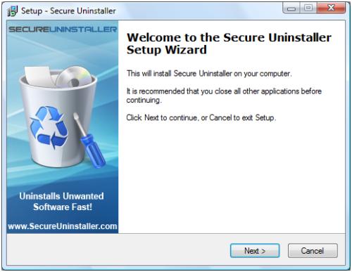Secure uninstaller installation