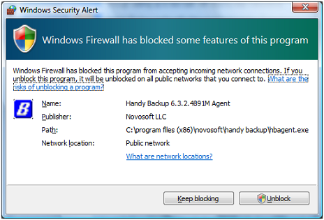Windows Firewall Block