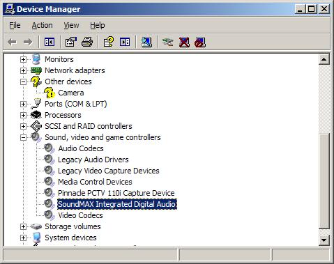soundmax pour windows xp sp3