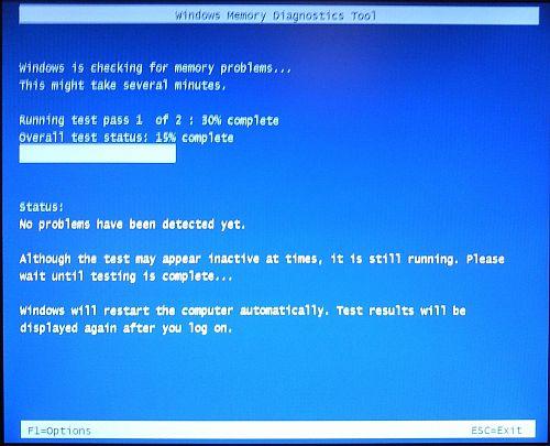 Test RAM in Windows Vista
