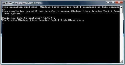 Vista Service Pack 1 cleanup tool
