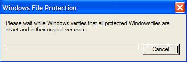 Scan windows Xp system files