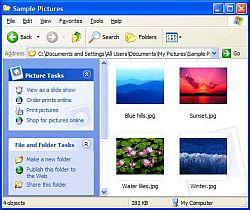 Windows XP thumbnails