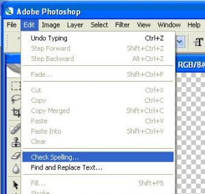 Check spelling in Adobe Photoshop CS2