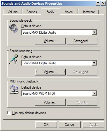 Soundmax Integrated Digital Audio Analog Devices Inc