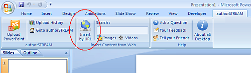 Insert YouTube video in powerpoint