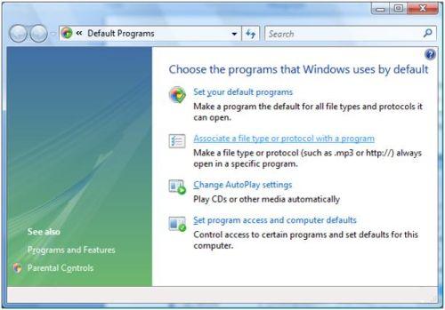 Set default program