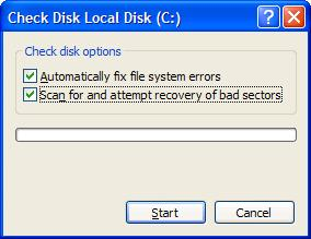 Windows Check disk