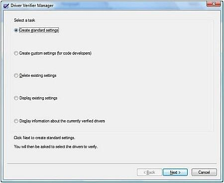 Verify drivers in Vista