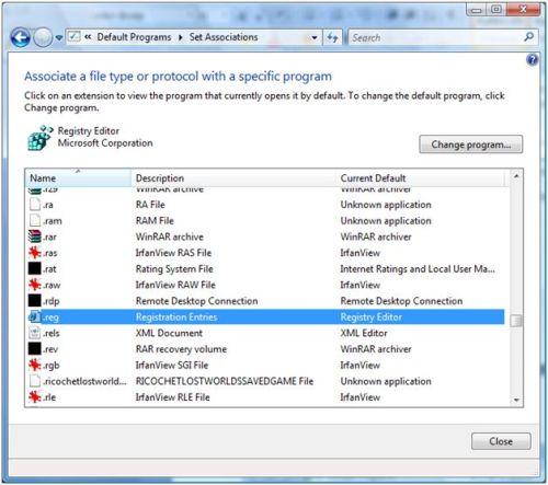 File type association