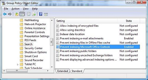 Windows Vista Group Policy editor