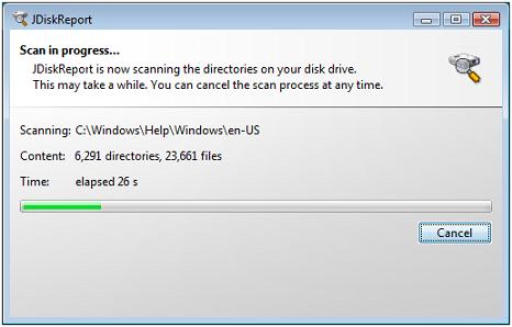 JDiskReport disk space scan