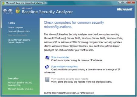 MS Baseline Security Analyzer