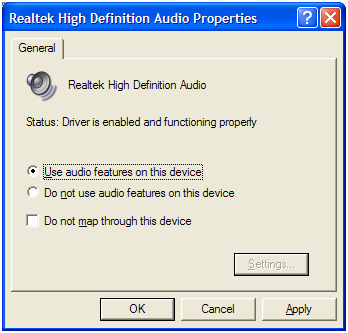 Use audio features on this device