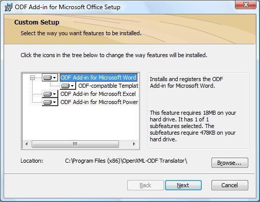 ODF Add-in for Microsoft Office