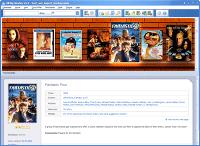 Movie organizer window