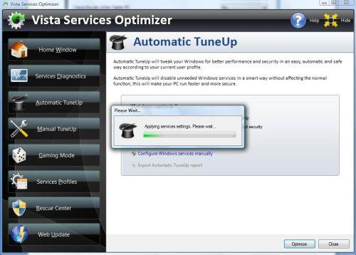 Automatic tuneup running