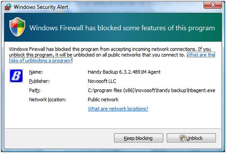Windows Firewall Block