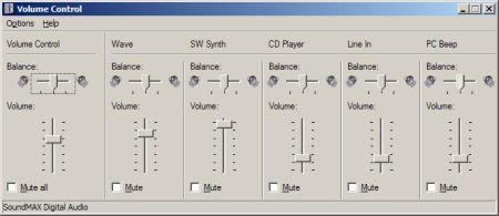 Volume controlmixer
