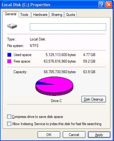 Turn off Windows disk indexing