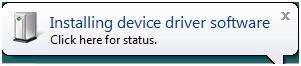 Vista device driver installation