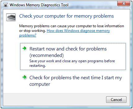 Windows memory test tool